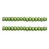 Seedbead Transparent Medium Green 10/0